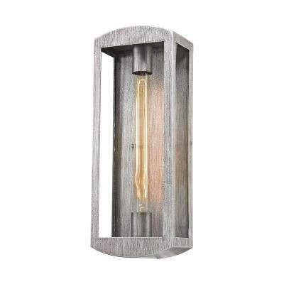 Trenton 1-Light Silvery Ash Outdoor Wall Sconce