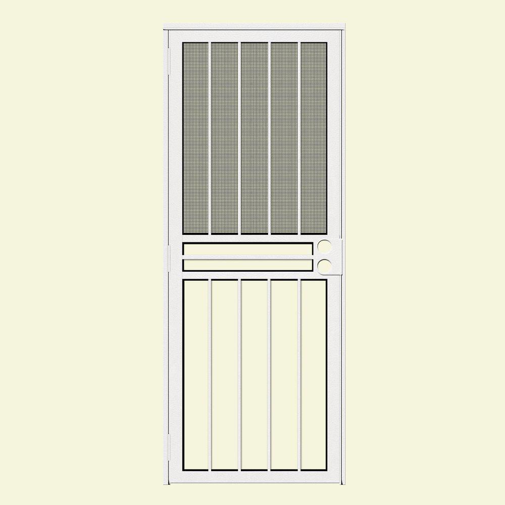 Unique Home Designs 32 in. x 80 in. Estate White Recessed Mount All ...
