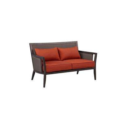 Greystone Patio Loveseat with Cinnabar Cushions -- CUSTOM