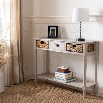 Christa Vintage Gray Storage Console Table