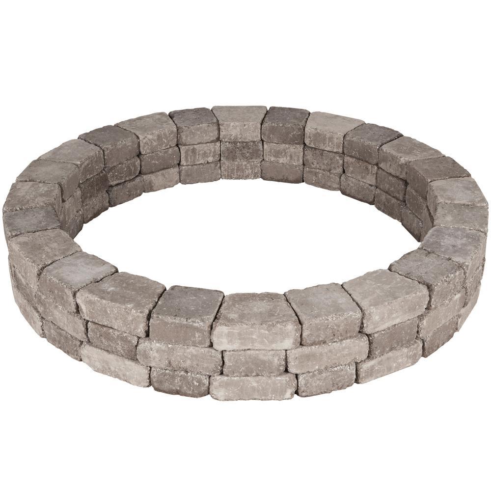 Rumblestone 66 in. x 10.5 in. Tree Ring Kit in Greystone