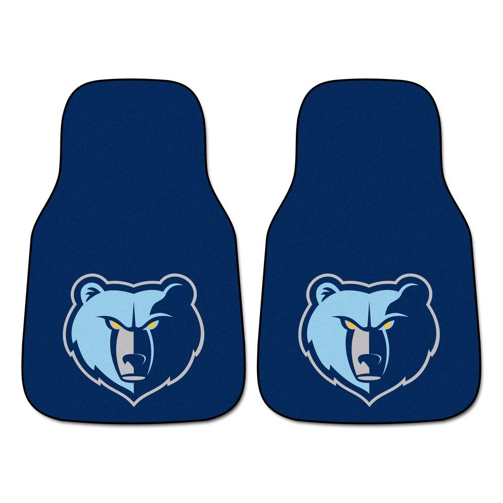 Memphis Grizzlies 18 in. x 27 in. 2-Piece Carpeted Car Mat