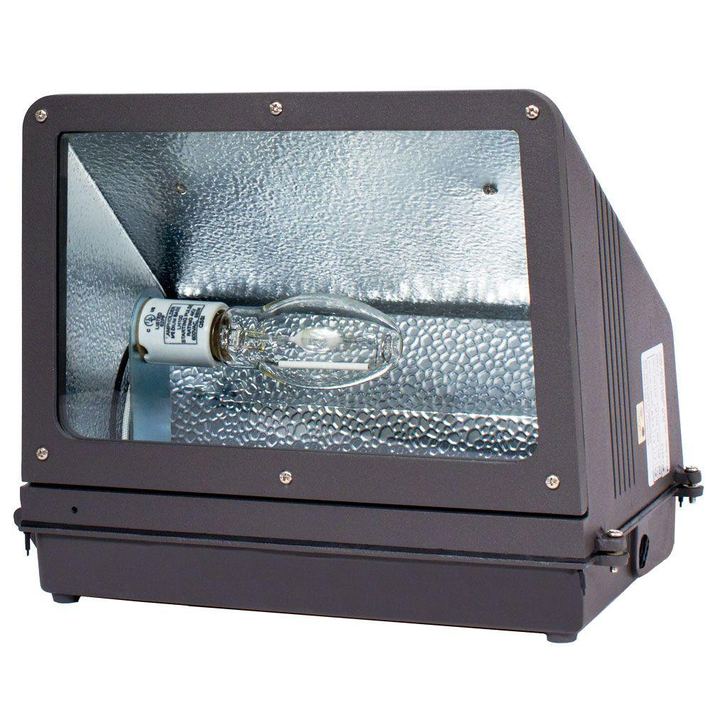 WFC Series 150-Watt Dark Bronze Outdoor HID Wall Pack