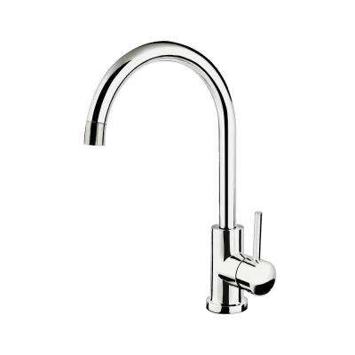 Goose Neck Stainless Steel Single-Handle Bar Faucet in Polished Chrome