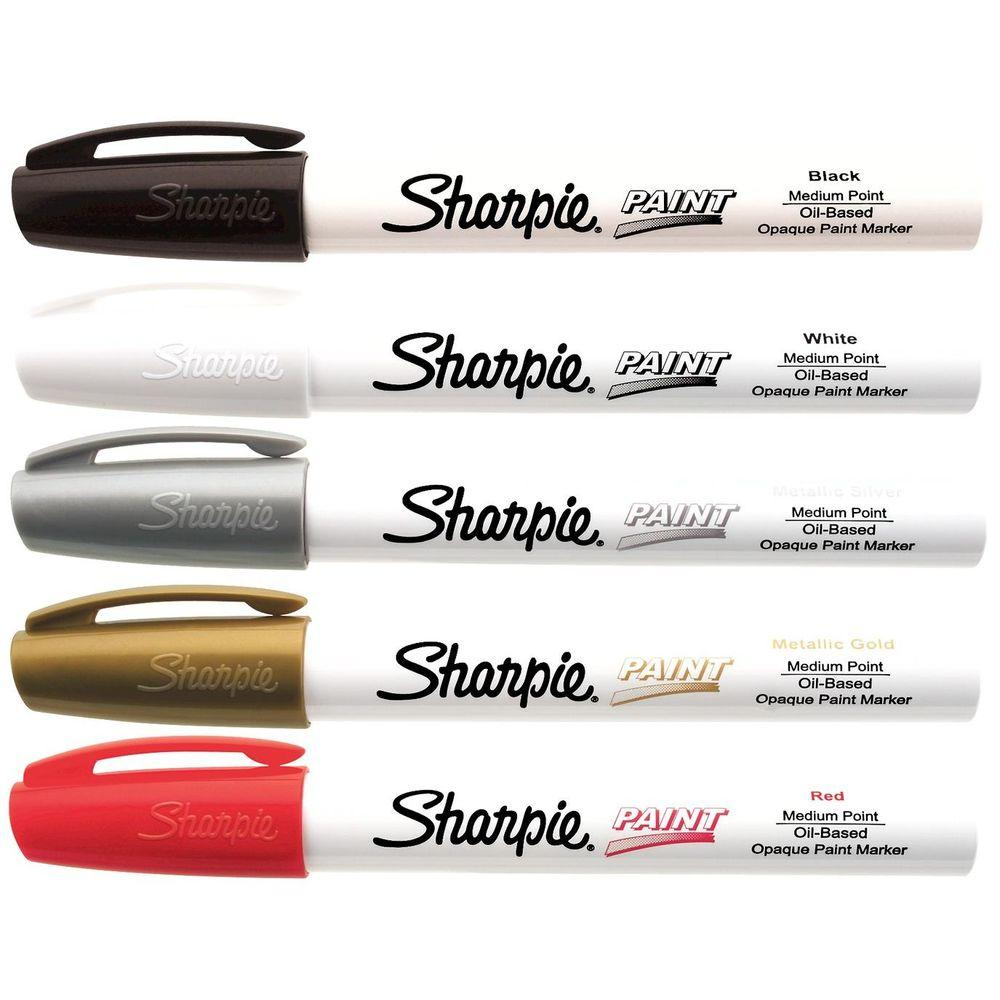 sharpie basic colors medium point oil based paint marker 5 pack