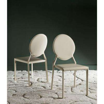 Warner Buttercream Bonded Leather Dining Chair (Set of 2)