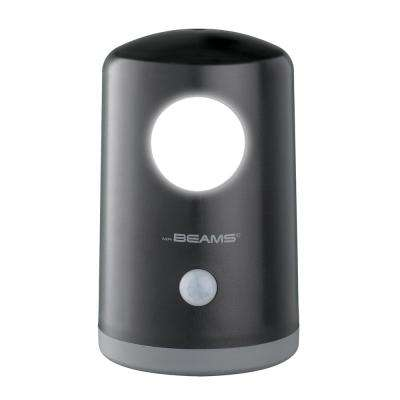 Stand Anywhere Motion Activated Battery Powered 20-Lumen LED Night Light, Black