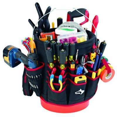 12 in. Tool Bucket Organizer in Red