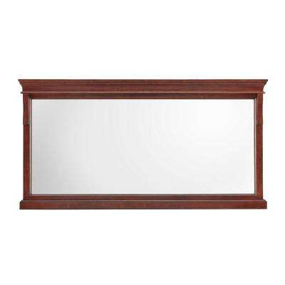 Naples 60 in. W x 31 in. H Framed Wall Mirror in Tobacco