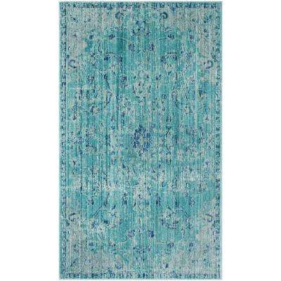 Valencia Teal/Multi 3 ft. x 5 ft. Area Rug