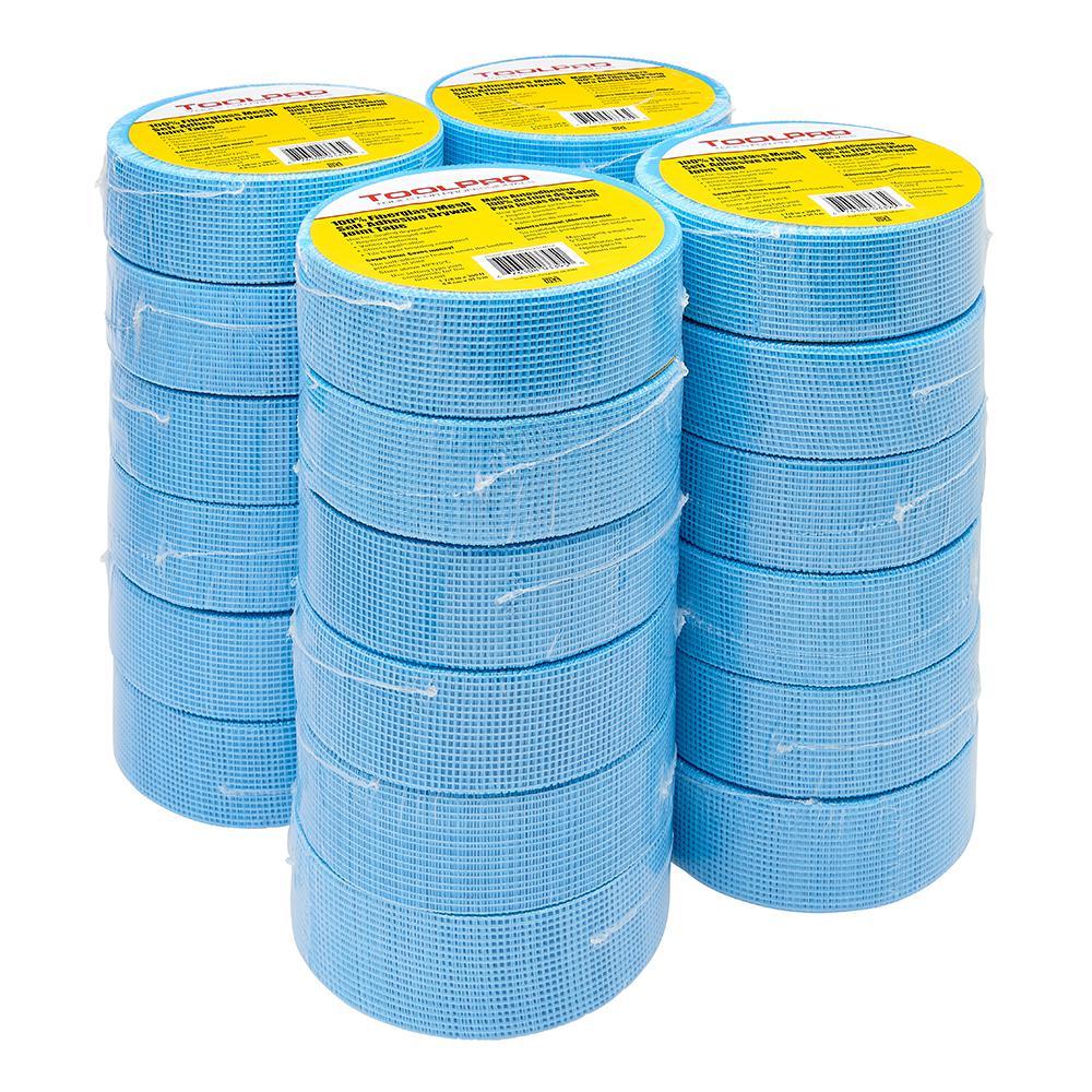 1-7/8 in. x 300 ft. Blue Fiberglass Self-Adhesive Mesh Tape TP03395