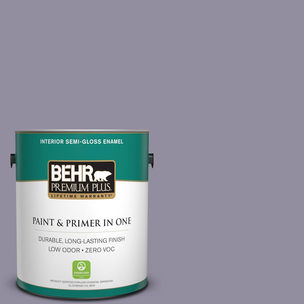 1-gal. #N560-4 Evening in Paris Semi-Gloss Enamel Interior Paint