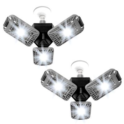 TriBurst 10.5 in. 144 High Intensity LED 4000 Lumens Flush Mount Ceiling Light with 3 Adjustable Heads (2-Pack)