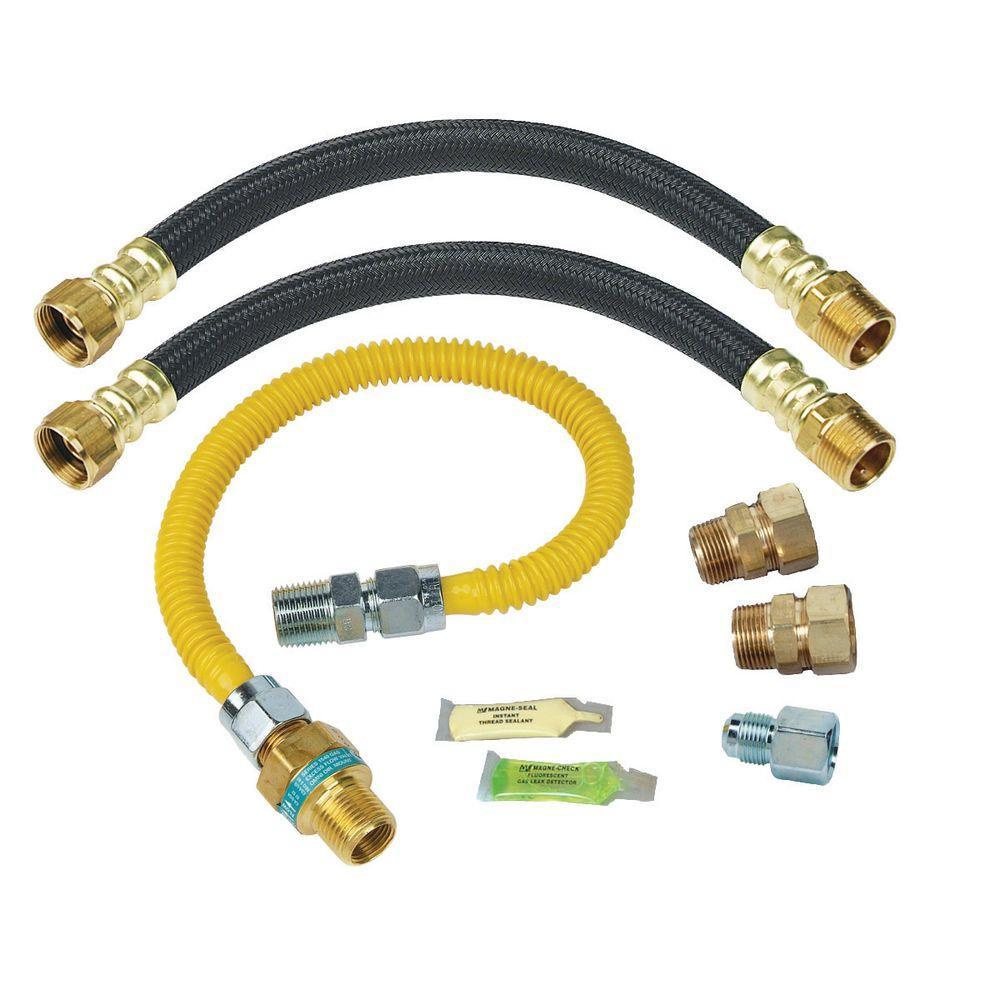 Brasscraft Safety+PLUS Gas and Water Installation Kit for Gas Water Heaters (93,100 BTU) by BrassCraft