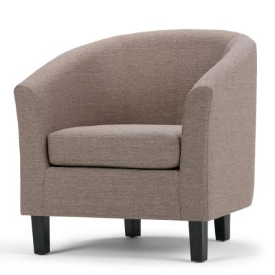 Austin 30 in. Wide Transitional Tub Chair in Fawn Brown Linen Look Fabric