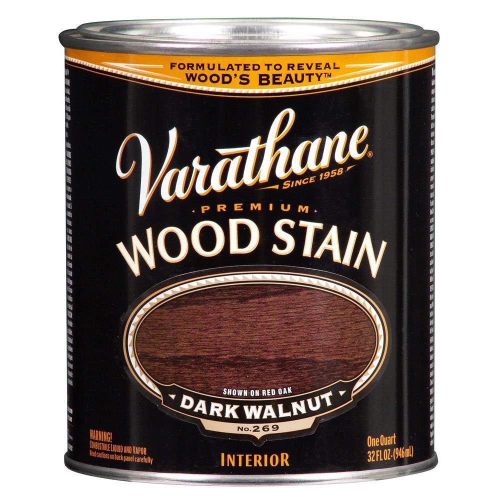 1-Qt. Dark Walnut Premium Interior Wood Stain No.269