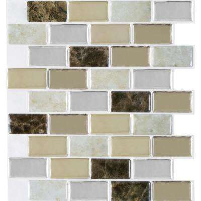 Granite 9.125 in. x 9.125 in. Bronze Magic Gel Decorative Mosaic Wall Tile