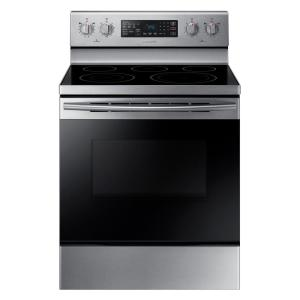 Samsung 30 inch 5.9 cu. ft. Single Oven Electric Range with Self-Cleaning and Convection Oven in Stainless Steel by Samsung