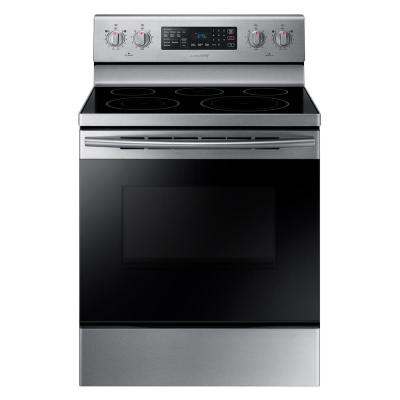Samsung 30 in. 5.9 cu. ft. Single Oven Electric Range with Self-Cleaning and Convection Oven in Stainless Steel