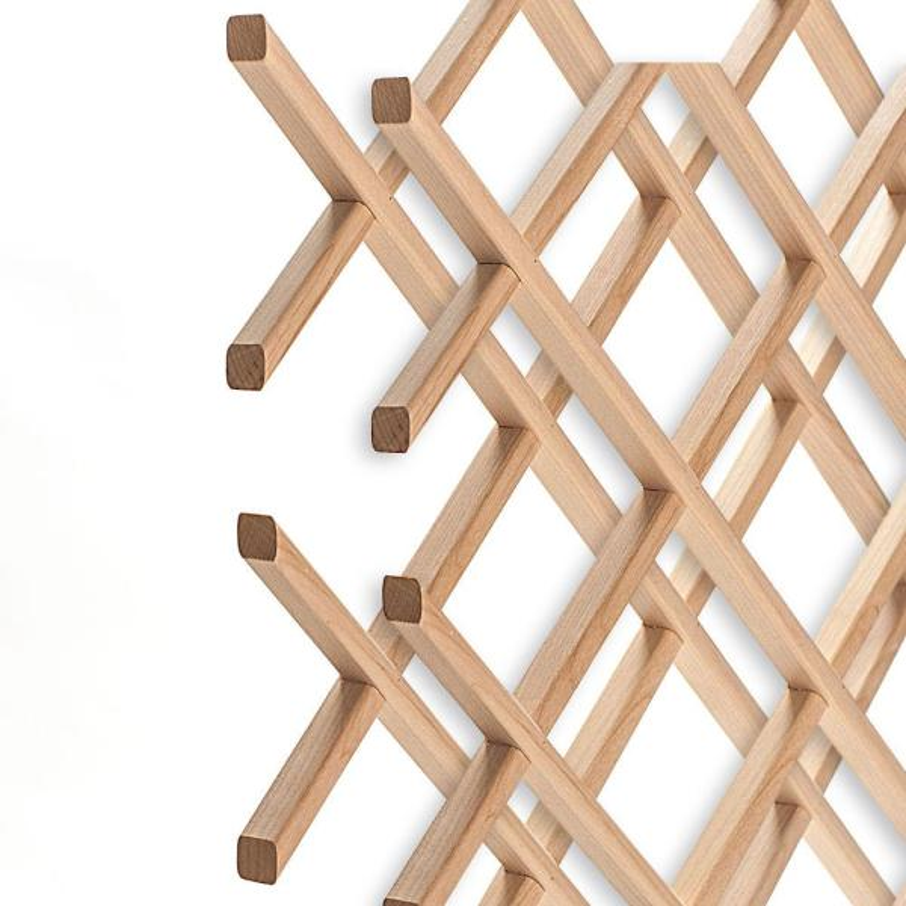American Pro Decor 14-Bottle Trimmable Wine Rack Lattice Panel Inserts in