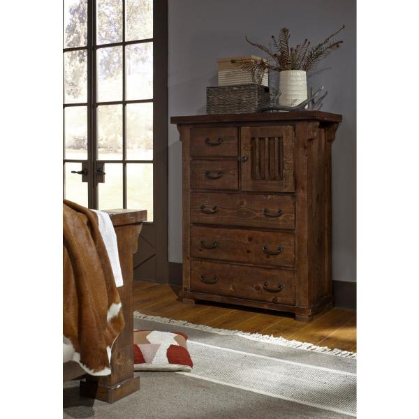 Forrester 5-Drawer Tobacco Chest of Drawers