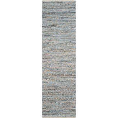 Cape Cod Natural/Blue 2 ft. x 18 ft. Runner