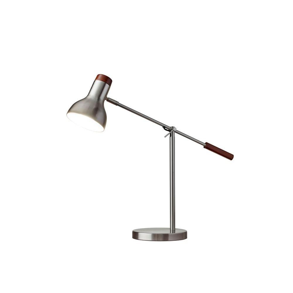 Watson 24 in. Brushed Steel Table Lamp