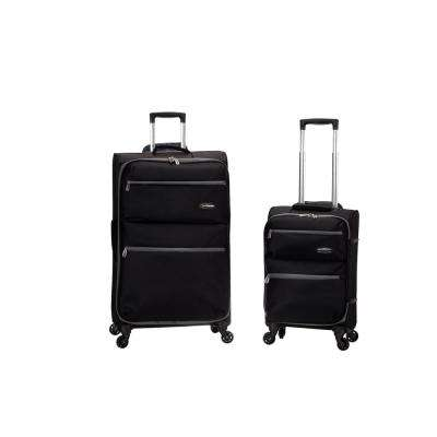 Gravity 2-Piece Light Weight Softside Luggage Set, Black
