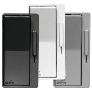 eaton al series single pole 3 way decorator dimmer switch with faceplate kit black white gray. Black Bedroom Furniture Sets. Home Design Ideas