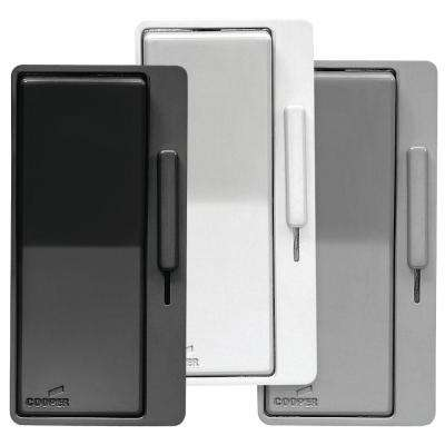 AL Series Single Pole/3-Way Decorator Dimmer Switch with Faceplate Kit, Black/White/Gray