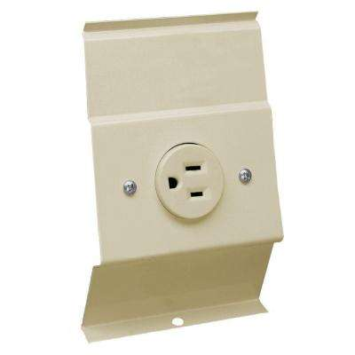 F Series Almond 120 Volt Baseboard Integral Receptacle Kit Accessory