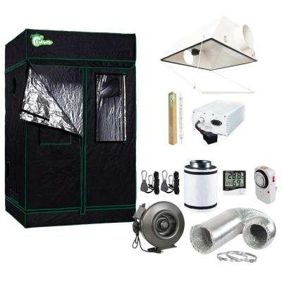 630-Watt DE CMH Ceramic Metal Halide Large Air Cooled Grow Light System with Grow Tent and Ventilation System