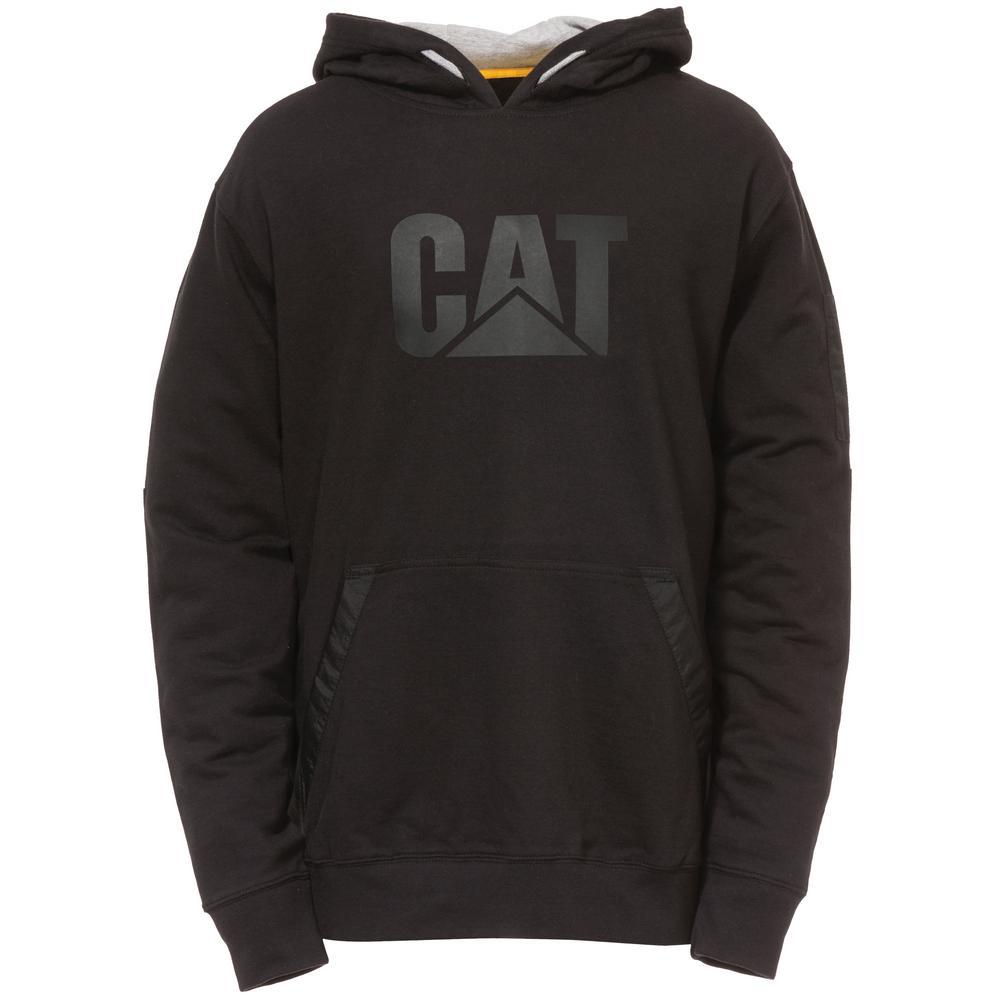 Lightweight Tech Men's Size Medium Black Cotton Pullover Hooded Sweatshirt