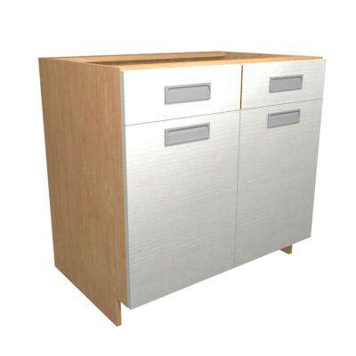 Genoa Ready to Assemble 30 x 34.5 x 24 in. Base Cabinet with 2 Soft Close Doors and 1 Soft Close Drawer in Glacier