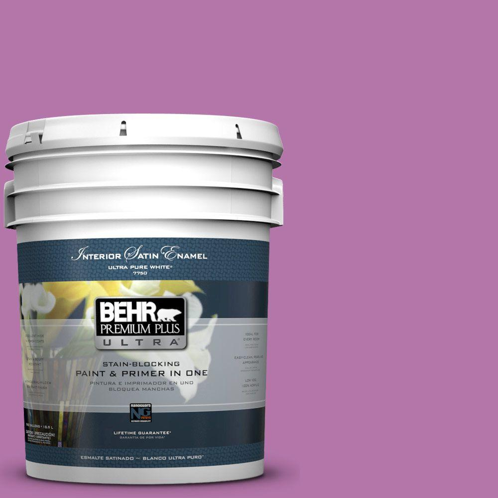 BEHR Premium Plus Ultra 5-gal. #P110-5 Girls Only Satin Enamel Interior Paint