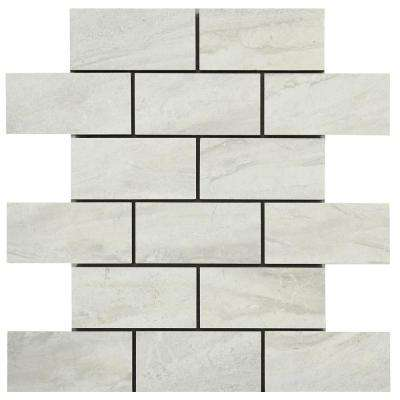 Noble Stone Cloud 12 in. x 12 in. x 8 mm Porcelain Mosaic Tile