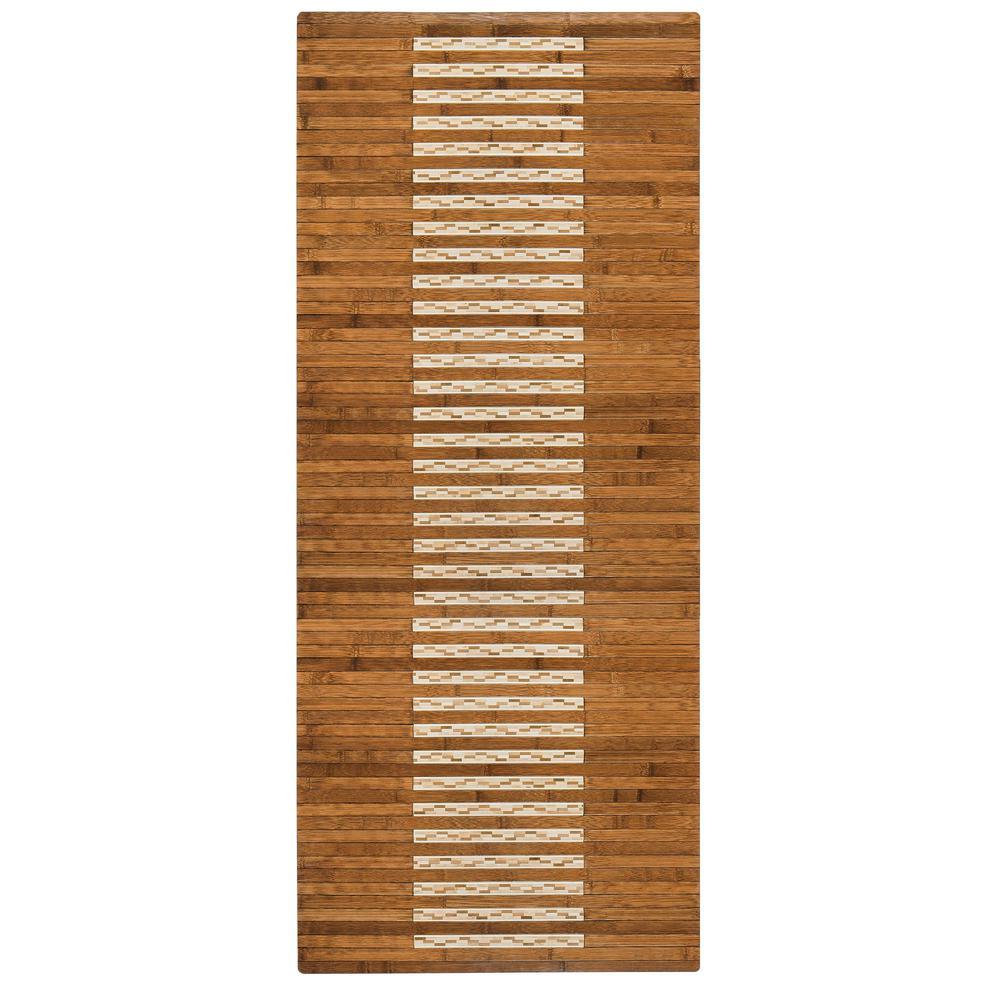 Merveilleux Bamboo Walnut Kitchen And Bath Mat
