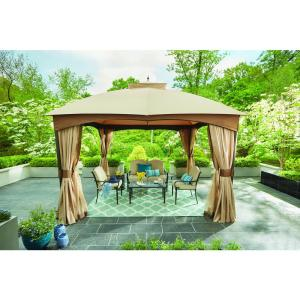 Deals on Hampton Bay 10-ft x 12-ft Turnberry Outdoor Patio Gazebo