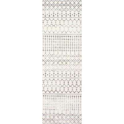 Blythe Moroccan Transitional Gray 3 ft. x 8 ft. Runner