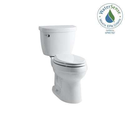 Cimarron Comfort Height the Complete Solution 2-piece 1.28 GPF Single Flush Elongated Toilet in White, Seat Included