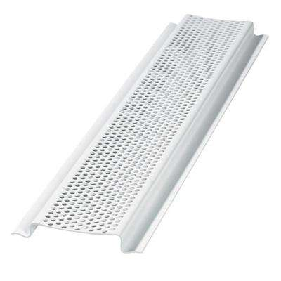 8 ft. Perforated PVC Continuous Retrofit Soffit Vent in White (Sold in 50-Pieces/Carton Only)