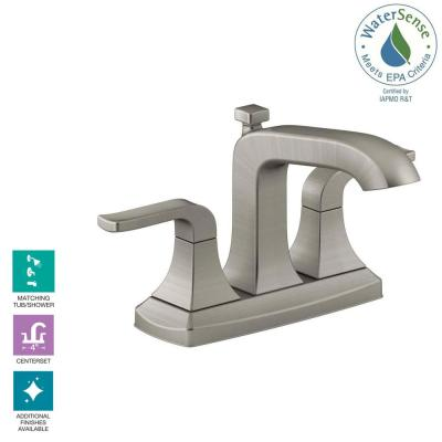 Rubicon 4 in. Centerset 2-Handle Bathroom Faucet in Vibrant Brushed Nickel