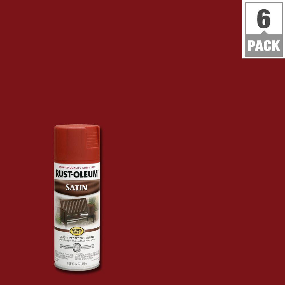 Protective Enamel Satin Redwood Spray Paint 6 Pack