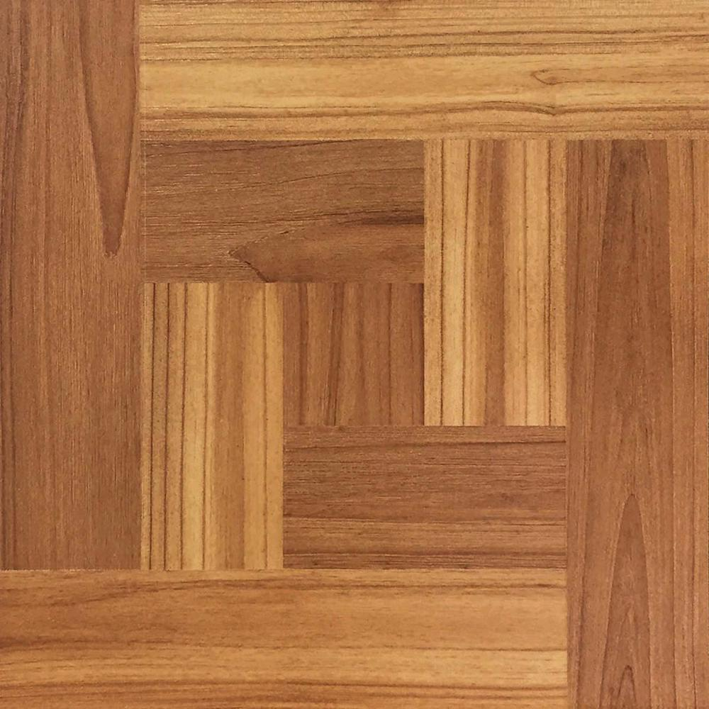Take Home Sample Brown Wood Parquet Peel And Stick Vinyl