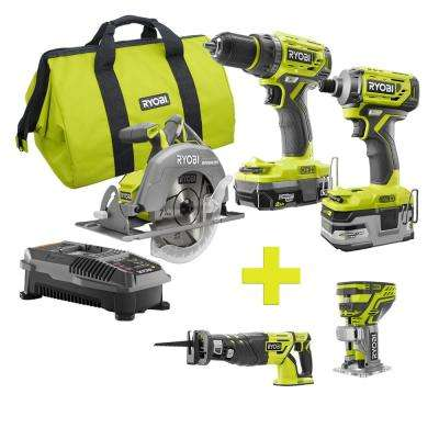 18-Volt ONE+ Lithium-Ion Cordless Brushless Combo Kit (3-Tool) w/Bonus Reciprocating Saw and Trim Router