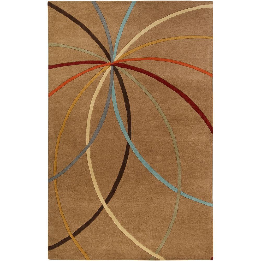Artistic Weavers Hughson Mocha 6 ft. x 9 ft. Area Rug