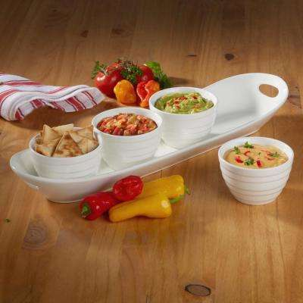 5-Piece Tidbit Bowls with Tray