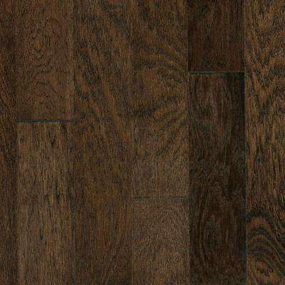 Brushed Vintage Hickory Ale 3/8 in. x 4-3/4 in. x Random Length Engineered Click Hardwood Flooring (22.5 sq. ft. / case)