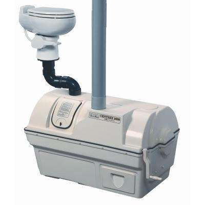 Centrex 2000 Non-Electric Waterless High Capacity Central Composting Toilet System in Bone