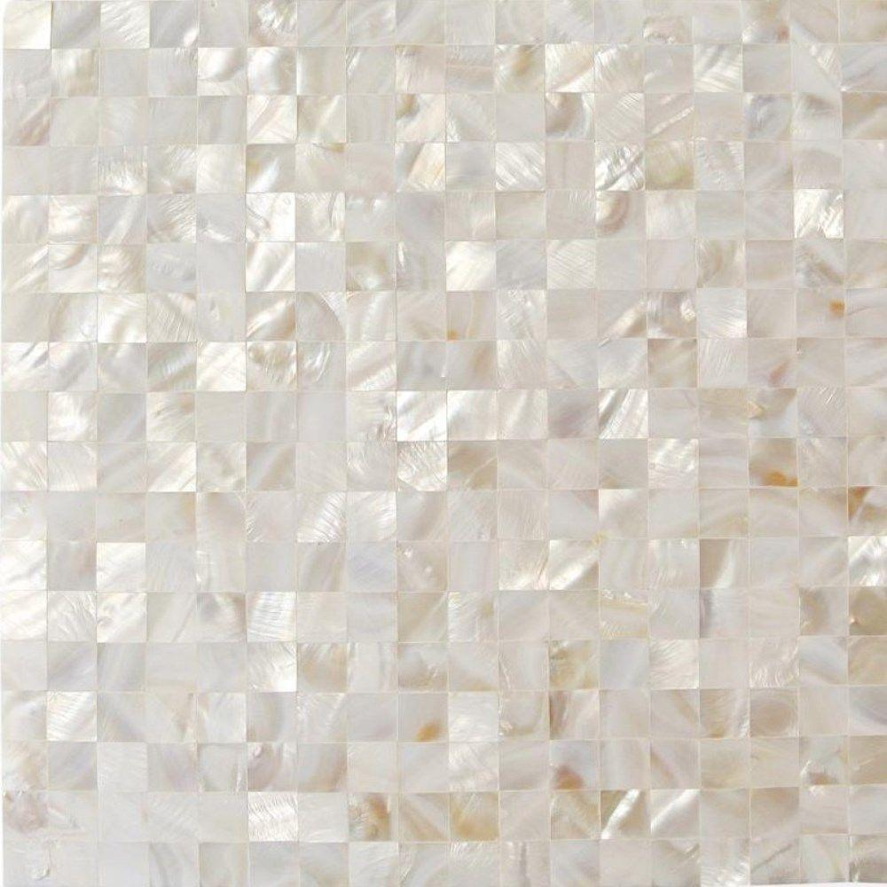 Tile samples for bathroom - Splashback Tile Mother Of Pearl White Square Pearl Shell Mosaic Floor And Wall Tile 3